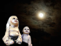 Scary children ghost doll Royalty Free Stock Image