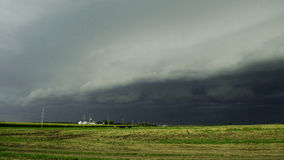 Scary Cloud. Shelf cloud moving in before severe storm Royalty Free Stock Image