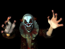 Scary Clown 2. Scary clown reaching for you Stock Image