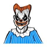 A Scary Clown avatar. A Scary Clown avatar, vector illustration drawn Royalty Free Stock Photography