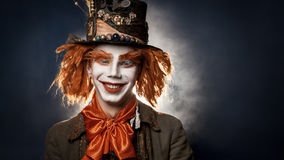 Scary clown. The clown suit Royalty Free Stock Images