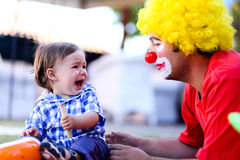 Scary clown Royalty Free Stock Photo