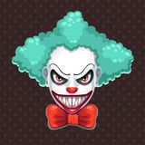 Scary clown face. Bad clown mask concept. Vector evil man portrait illustration vector illustration