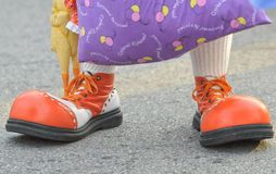 Scary clown feet Royalty Free Stock Image