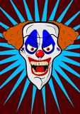 Scary clown head illustration Royalty Free Stock Images