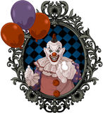 Scary Clown. The scary clown holds balloons royalty free illustration