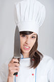 Scary cook Royalty Free Stock Photography