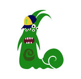 Scary Cool Monster Avatar - Animated Cartoon Character in Flat Vector vector illustration