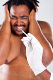 Scary cosmetic surgery Stock Photo