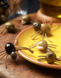 Scary creepy Halloween spider snacks Royalty Free Stock Photo