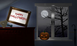 Scary dark room on Halloween Royalty Free Stock Image