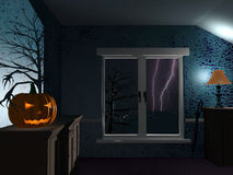 Halloween rainy night Royalty Free Stock Images