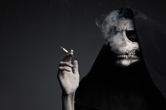 Scary Death Makes Cloud Of Smoke. Royalty Free Stock Image