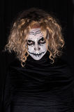 Scary demonic sugar skull woman Royalty Free Stock Photo
