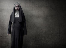 Scary Devil Nun. For halloween concept image royalty free stock photos