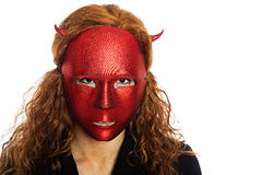 Scary devil woman Stock Photo