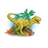 Scary dinosaur in jungle Royalty Free Stock Photos