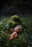 Scary doll. Child abuse. Crime scene Royalty Free Stock Photos