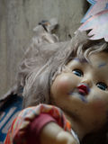 Scary Doll at dirty place. Scary dirty oll at dirty place Royalty Free Stock Photos