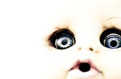 Scary Doll Features stock photo