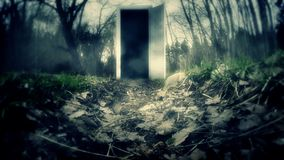 The scary door in the Woods stock footage & The Scary Door In The Woods Stock Video - Video of black dungeon ...