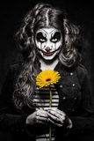 Scary evil clown girl Royalty Free Stock Photo