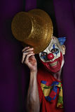 Scary evil clown at the stage Stock Photos