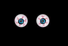 Scary eyeballs for Halloween isolated on black background Royalty Free Stock Photos