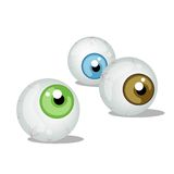 Scary Eyeballs Royalty Free Stock Photos