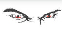 Scary eyes. Vector illustration of scary eyes Royalty Free Stock Photo