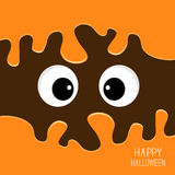Scary eyes Halloween card. Spooky background Flat design. Royalty Free Stock Images