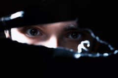 Scary eyes of a man Stock Images