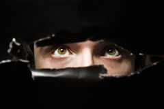 Scary eyes of a man Royalty Free Stock Image