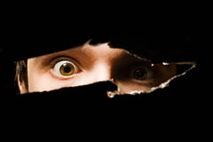 Scary eyes of a man Stock Image