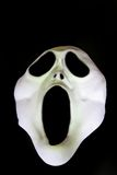 Scary Face. Eyes and mouth wide open the haunting face may be out at Halloween, space for copyspace Royalty Free Stock Photo
