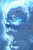 Scary face graffiti Royalty Free Stock Images
