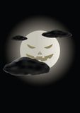 Scary face of halloween moon Royalty Free Stock Photos