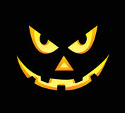 Scary face of halloween pumpkin Royalty Free Stock Image
