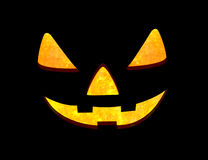 Scary face of halloween pumpkin with clipping path Royalty Free Stock Photography
