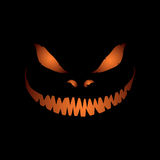 Scary face isolated on black background Royalty Free Stock Image