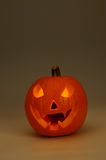 Scary face pumpkin. Stock Photography