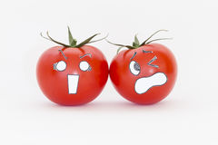 Scary face tomatoes Royalty Free Stock Images