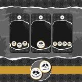 Scary faces Halloween dark badge set Royalty Free Illustration