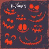 Scary faces on Halloween Royalty Free Stock Photo