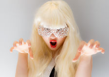 Scary fashion girl stock photo