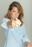 Scary female boss Stock Photos