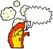Scary Fire Cartoon Character. Hand drawn  cartoon of a scary fire cartoon character Stock Photo