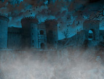 Scary foggy place. In Transylvania background Stock Image