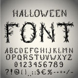 Scary Font Stock Photography
