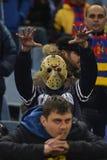 Scary football fan Stock Photo